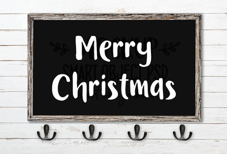 Merry Christmas SVG Word Art Bookworm