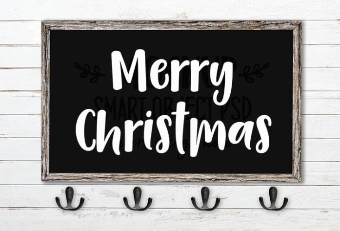 Merry Christmas SVG Word Art Camica