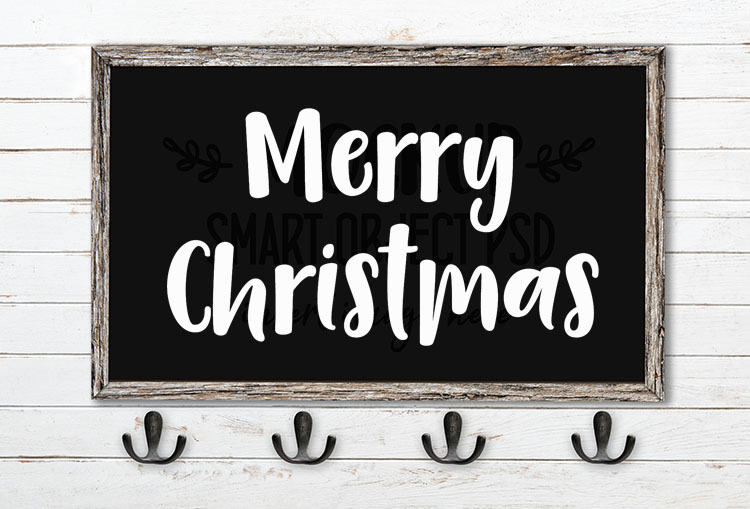 Merry Christmas SVG Word Art Camica
