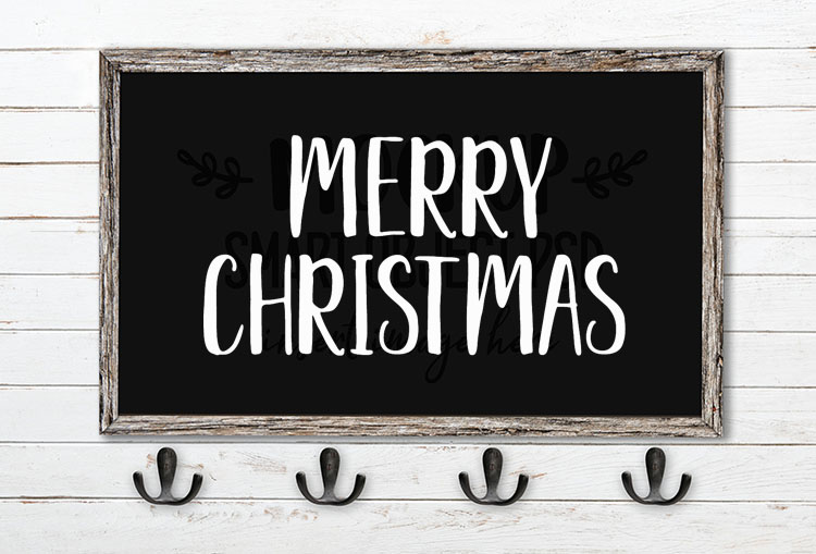 merry christmas svg word art delaney sans