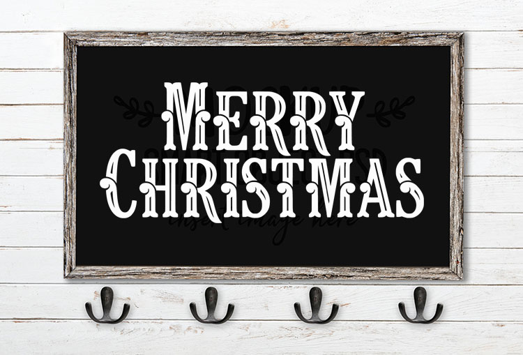 merry christmas svg word art fonago inline font