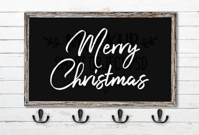 merry christmas svg word art harista