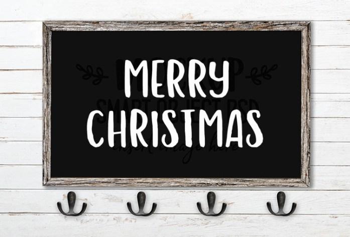 merry christmas svg word art hola bisou