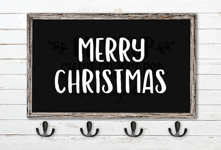 merry christmas svg word art hola bisou