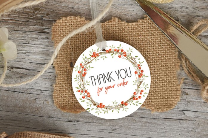 christmas thank you for your order