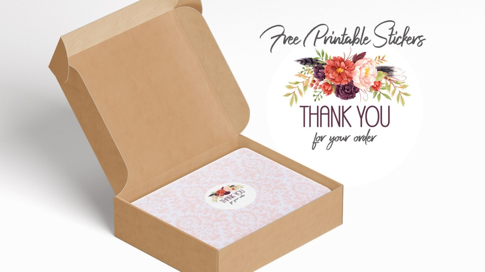 thank you for your order printable stickers