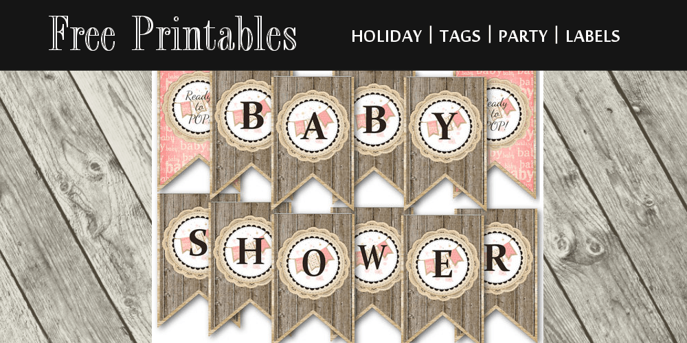 baby shower banner free printable