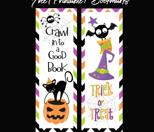 Halloween Bookmarks Free Printable