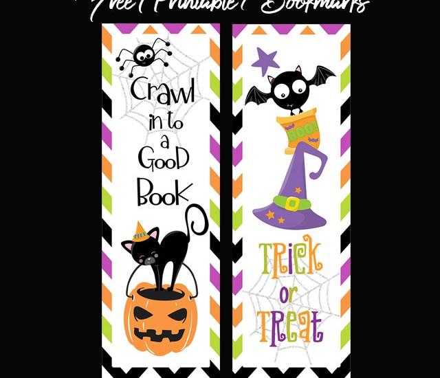 Halloween Bookmarks Free Printable