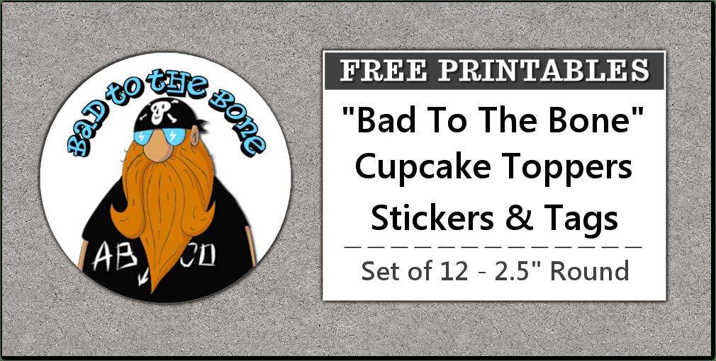 printable biker party favors labels stickers