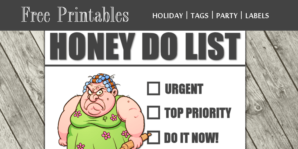 funny honey do list printable free download