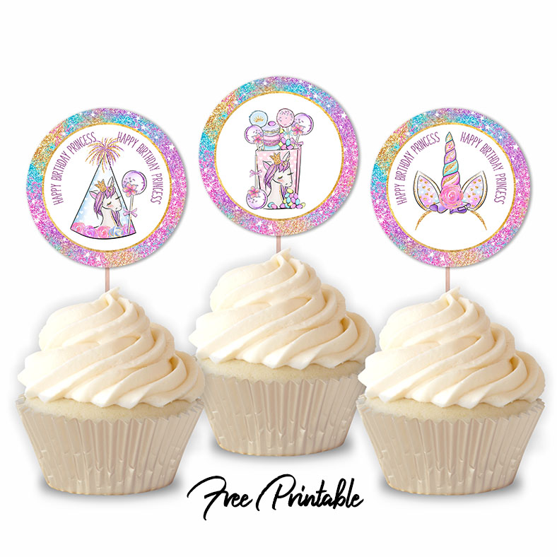 Happy Birthday Little Princess Unicorn Party Printable