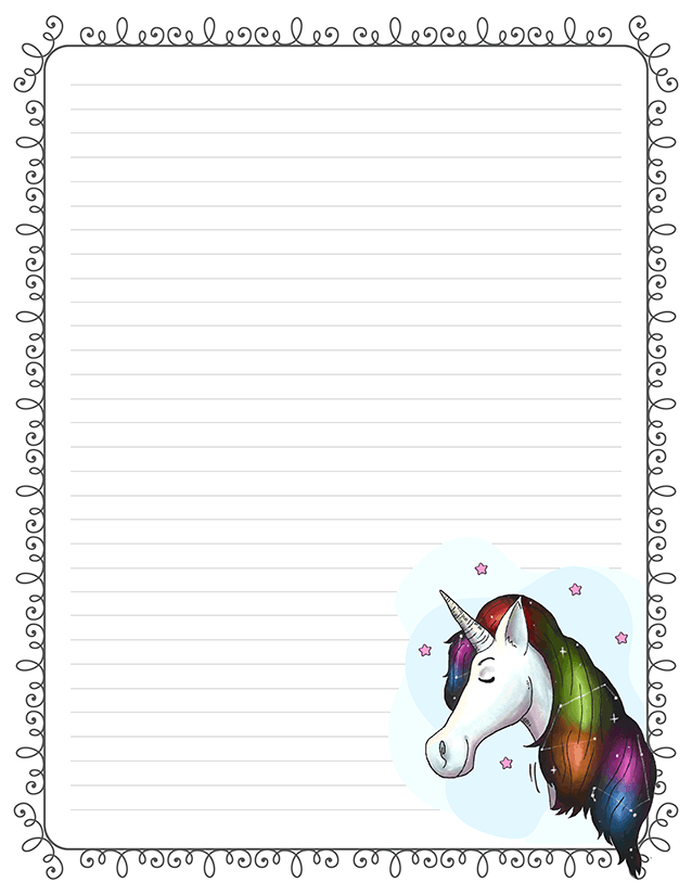 image about Free Printable Lined Stationery identified as Printable Fairly Stationery For Letter Crafting Taking Bare minimum Ink