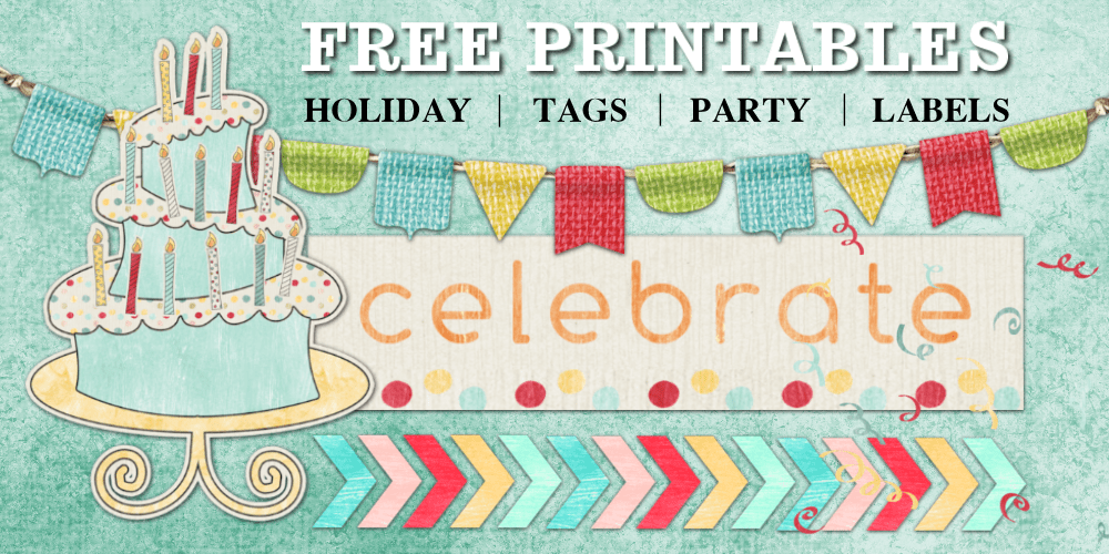 picture regarding Free Printable Birthday Labels referred to as Do it yourself Birthday social gathering printable cupcake topper stickers