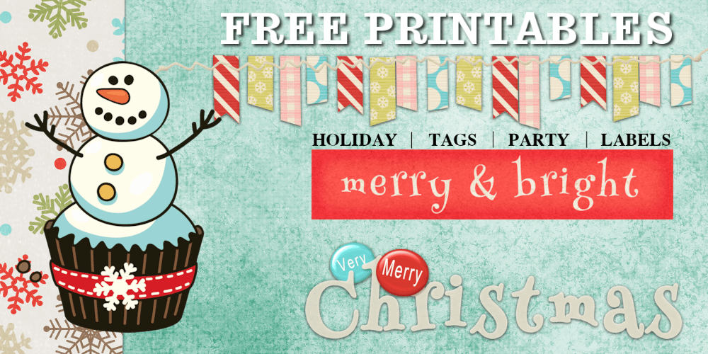 Printable Christmas Stickers Tags