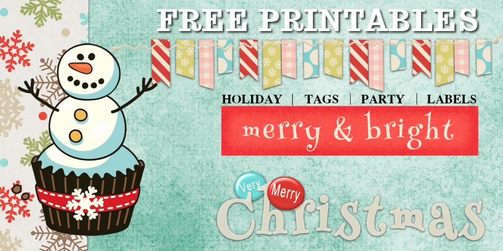 Printable Christmas Stickers Tags