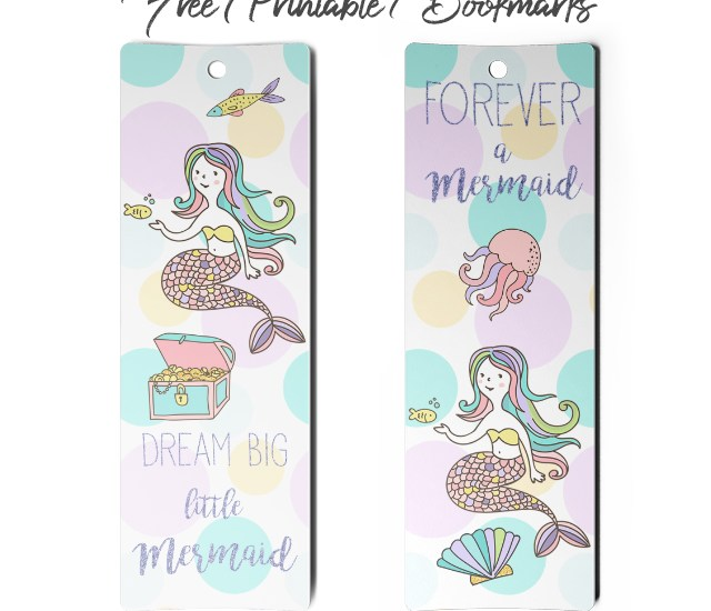 dream big little mermaid bookmark