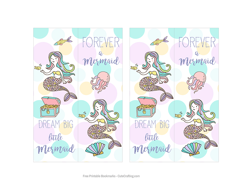 free mermaid bookmarks
