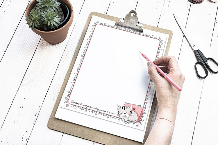 free printable cat stationery