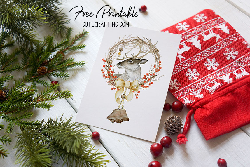 christmas wreath card free download