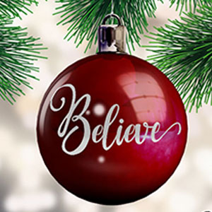 Christmas DXF SVG Believe Free Download