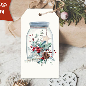 Christmas Canning Jars Printable Tags
