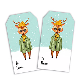 free printable christmas hipster deer tags for men