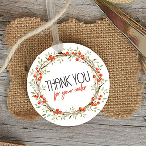 Printable Christmas Thank You Lables Free Download