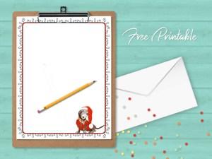 Printable Stationery Dachshund Christmas Paper