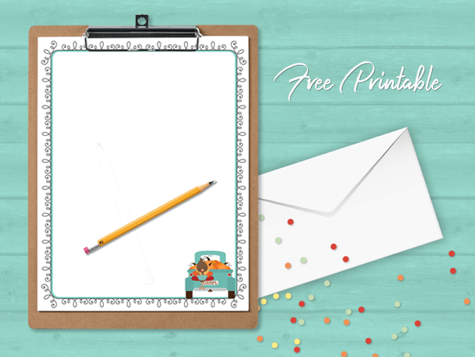 auntumn fall printable paper stationery