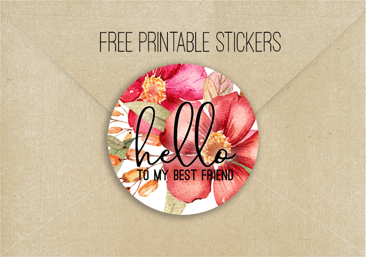 Free Printable Stickers Pen Pals Best Friends