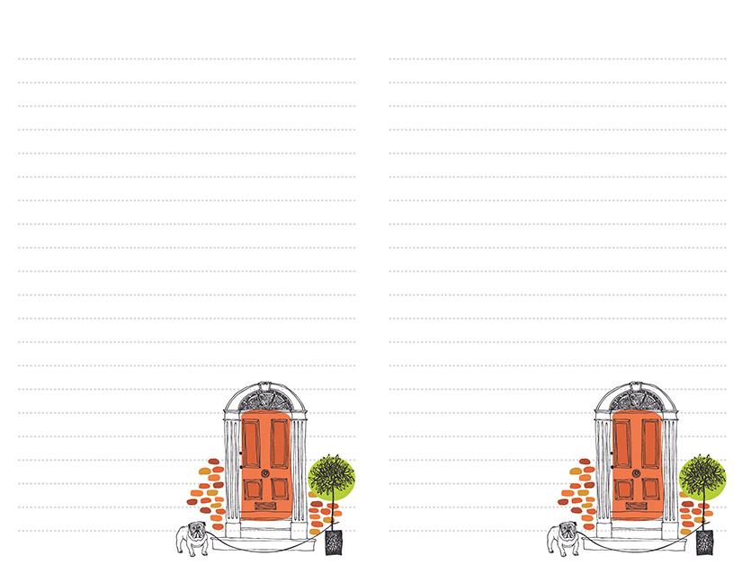 Orange Door Stationery