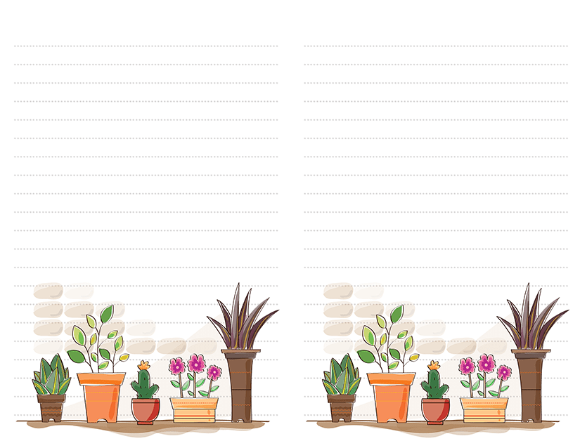 Flower Pots Cactus Stationery