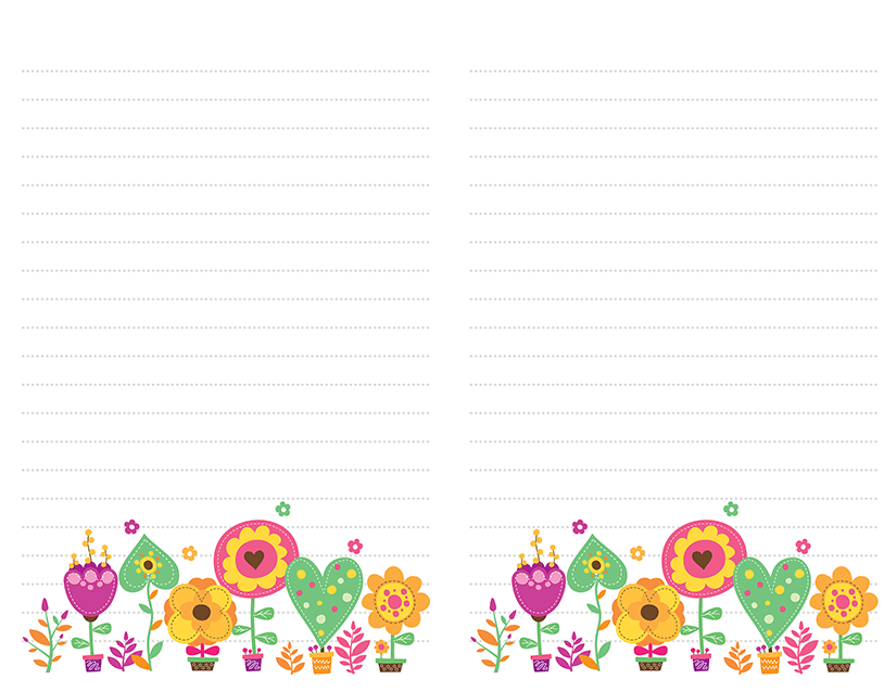 Flower Pots Pastels Stationery