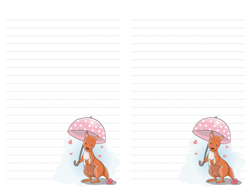 Kangaroo Umbrella Stationery