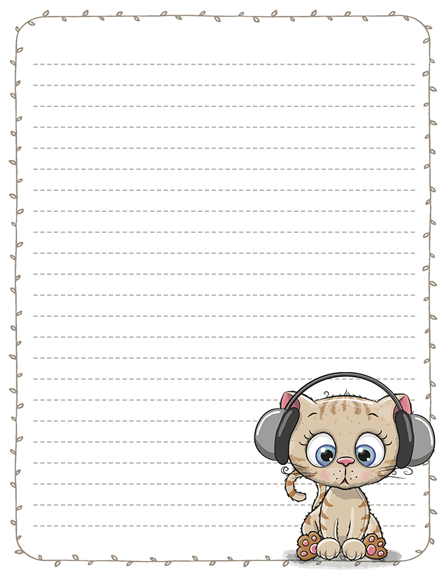 Cute Kitten Pen Pal Letters