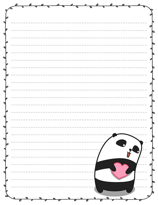 Kawaii panda love stationery