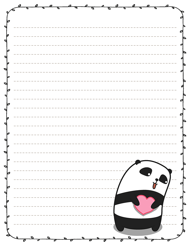 Kawaii panda love stationery