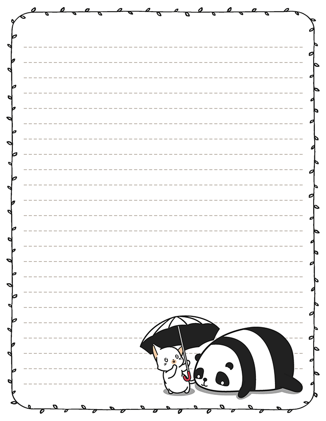 Panda Umbrella Kawaii Stationery