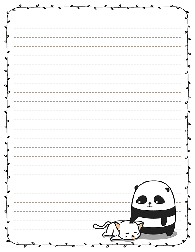 Cartoon Panda Stationery