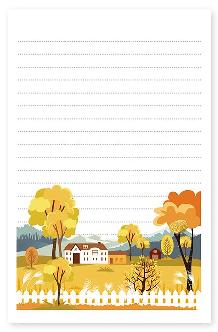 Autumn Farmhouse Stationery
