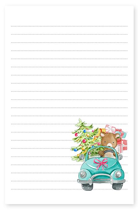 Teddy Bear Christmas Presents Stationery