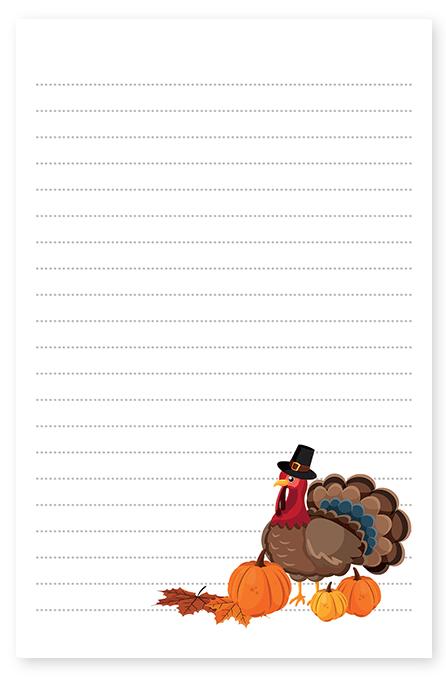 thanksgiving turkey stationery