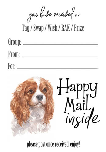 Cavalier King Charles Spaniel Tag Inserts