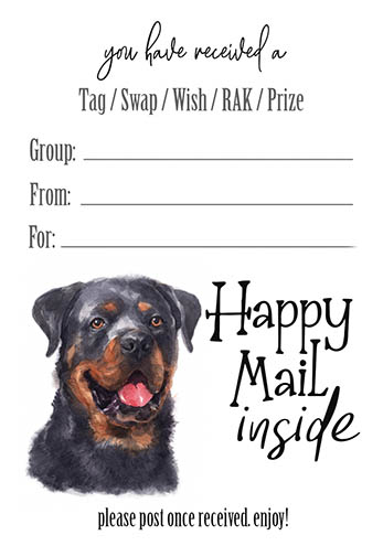 Rottweiler Tag Inserts