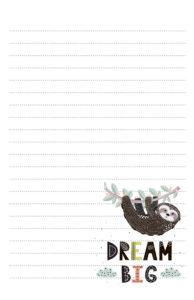 Sloth Pen Pal Stationery