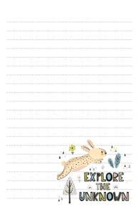 Bunny Rabbit Pen Pal Stationery