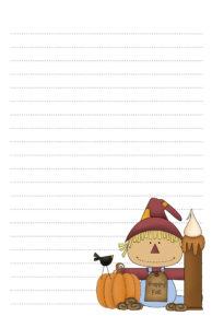 Primitive Scarecrow Pen Pal Stationery