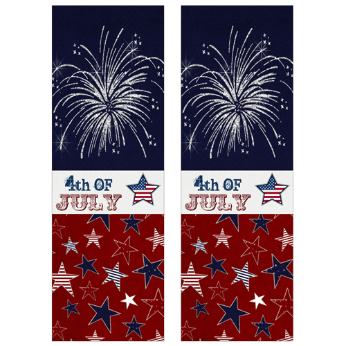 4th of July Shaker Bookmarks
