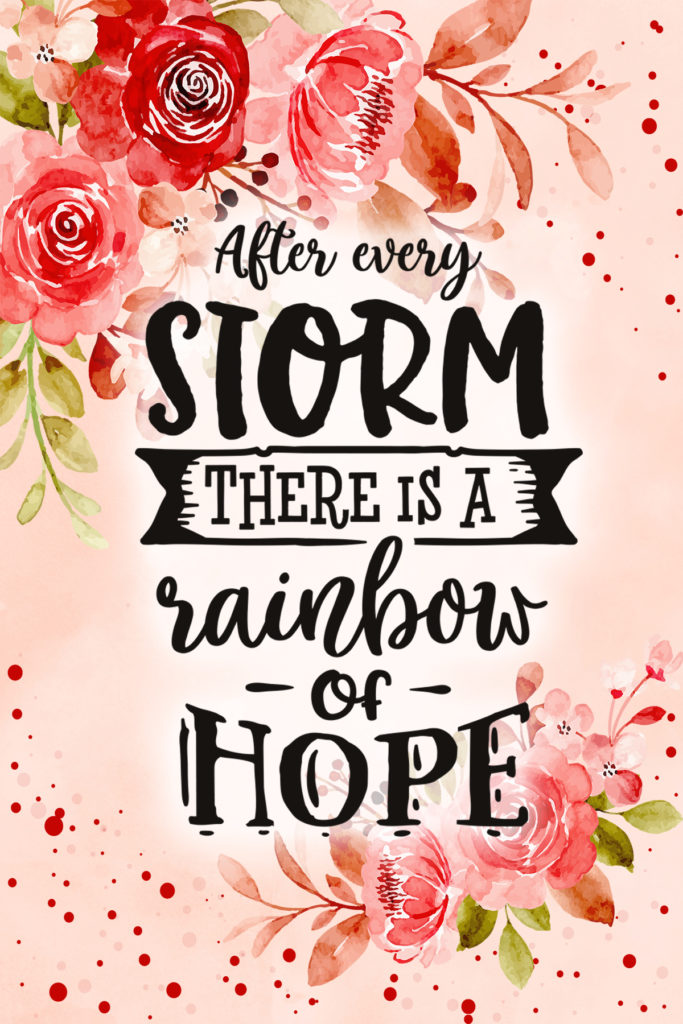 After Every Storm There Is A Rainbow Of Hope Postcard